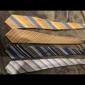 4 Ties Geoffrey Beene as a bundle